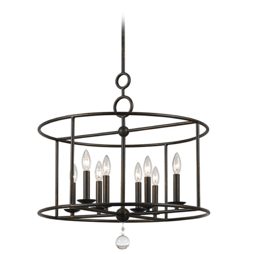 Crystorama Lighting Crystorama Lighting Cameron English Bronze Pendant Light 9166-EB