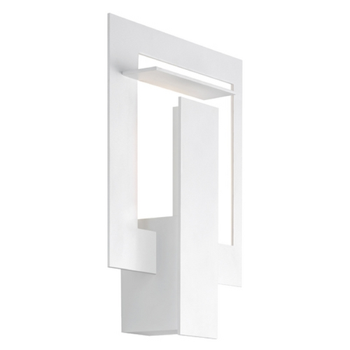 Sonneman Lighting Sonneman Lighting Portal Textured White LED Sconce 2364.98