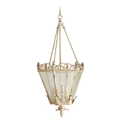 Quorum Lighting Quorum Lighting Salento Persian White Pendant Light with Hexagon Shade 6806-3-70