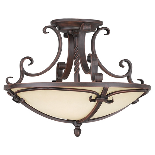 Livex Lighting Livex Lighting Millburn Manor Imperial Bronze Semi-Flushmount Light 5484-58