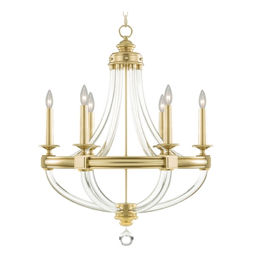 Fine Art Lamps Fine Art Lamps Grosvenor Square Antique Hand-Rubbed Solid Brass Chandelier 846040-2ST