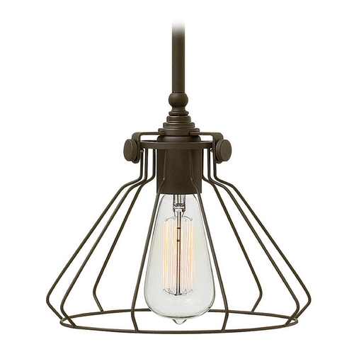 Hinkley Lighting Hinkley Lighting Congress Oil Rubbed Bronze Mini-Pendant Light 3110OZ