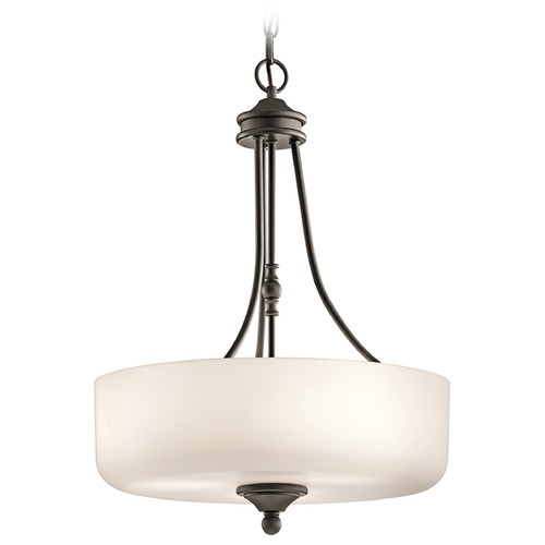 Kichler Lighting Kichler Lighting Lilah Pendant Light with Drum Shade 43653OZ