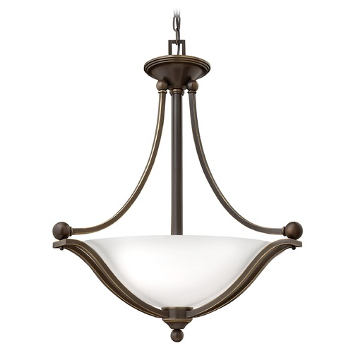 Hinkley Lighting Hinkley Lighting Bolla Olde Bronze Pendant Light with Bowl / Dome Shade 4652OB-OP-GU24
