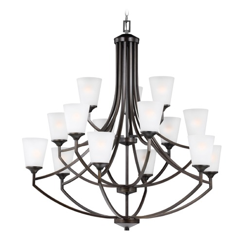 Sea Gull Lighting Sea Gull Hanford Burnt Sienna Chandelier 3124515-710