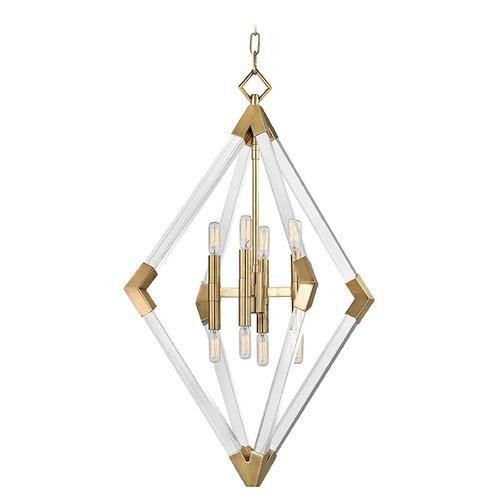 Hudson Valley Lighting Hudson Valley Lighting Lyons Aged Brass Pendant Light 4623-AGB