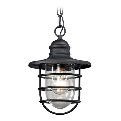 Elk Lighting Elk Lighting Vandon Textured Matte Black Outdoor Hanging Light 45213/1