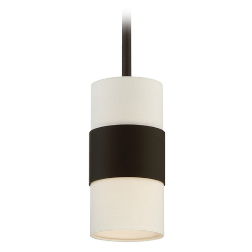 Crystorama Lighting Crystorama Lighting Grayson Dark Bronze Mini-Pendant Light with Cylindrical Shade 290-DB