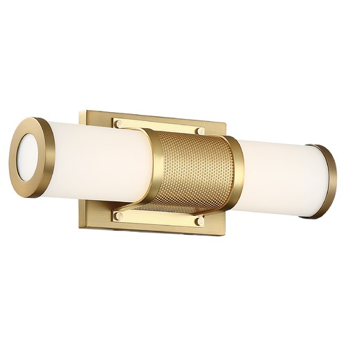 Nuvo Lighting Satco Lighting Caper Brushed Brass LED Bathroom Light 62/1601
