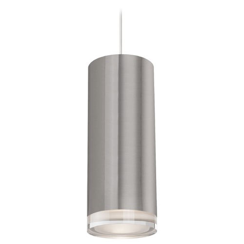 Kuzco Lighting Kuzco Lighting Cameo Brushed Nickel LED Mini-Pendant Light with Drum Shade 401432BN-LED