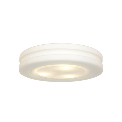 Access Lighting Modern Flushmount Light with White Glass in White Finish 50188-WH/OPL