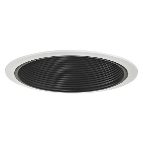 Recesso Lighting by Dolan Designs Stepped Black Baffle Trim for 6-Inch Recessed Housings T603B-WH