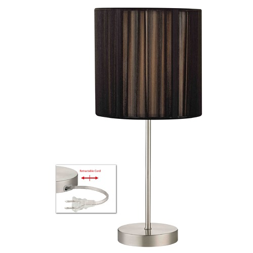 Design Classics Lighting Table Lamp with Black String Drum Shade 1904-09 SH9531