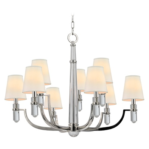Hudson Valley Lighting Dayton 9 Light 2-Tier Chandelier - Polished Nickel 989-PN
