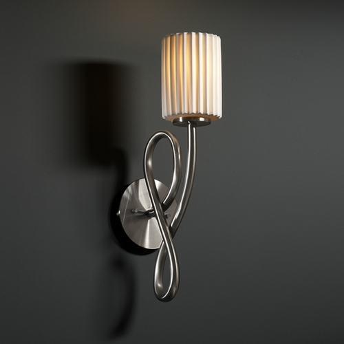 Justice Design Group Justice Design Group Limoges Collection Sconce POR-8911-10-PLET-NCKL