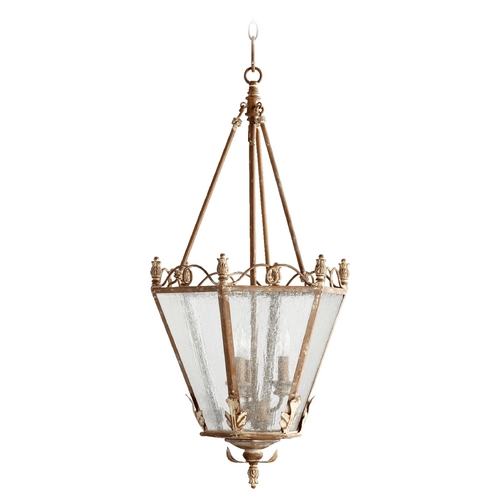 Quorum Lighting Quorum Lighting Salento French Umber Pendant Light with Hexagon Shade 6806-3-94