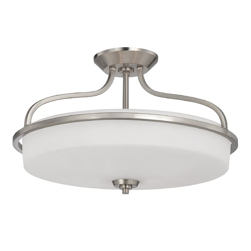 Savoy House Savoy House Satin Nickel Semi-Flushmount Light 6-6225-4-SN