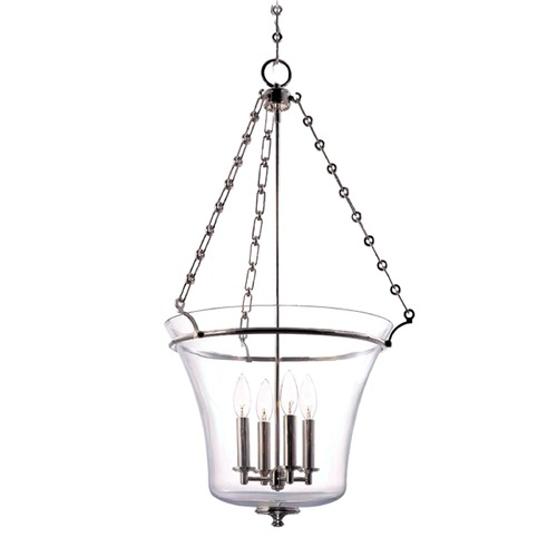 Hudson Valley Lighting Hudson Valley Lighting Eaton Polished Nickel Pendant Light with Bowl / Dome Shade 834-PN