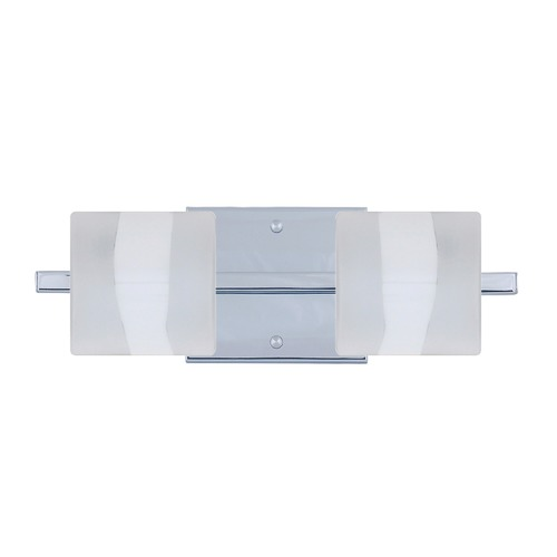 Besa Lighting Besa Lighting Paolo Frosted Glass Chrome Bathroom Light 2WS-787399-CR