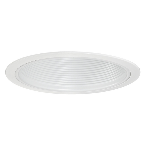 Recesso Lighting by Dolan Designs Stepped White Baffle Trim for 6-Inch Recessed Housings T603W-WH