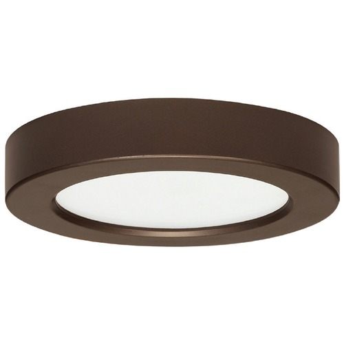 Design Classics Lighting 5-1/2-Inch Bronze Round LED Flushmount Ceiling Light - 2700K 8322-27-BZ