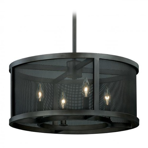 Vaxcel Lighting Vaxcel Wicker Park Warm Pewter Pendant Light P0102