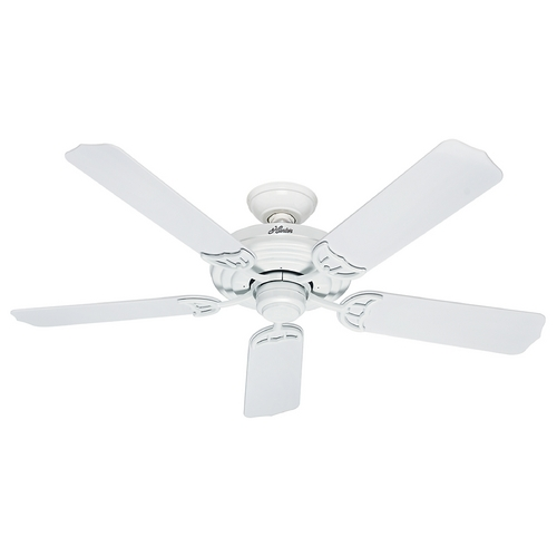 Hunter Fan Company Hunter Fan Company Sea Air White Ceiling Fan Without Light 53054