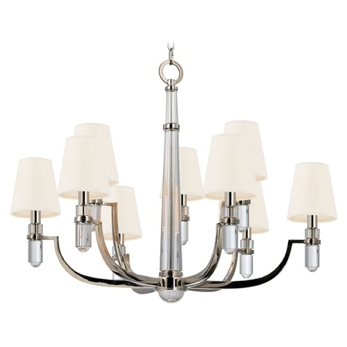 Hudson Valley Lighting Dayton 9 Light 2-Tier Chandelier - Polished Nickel 989-PN-WS