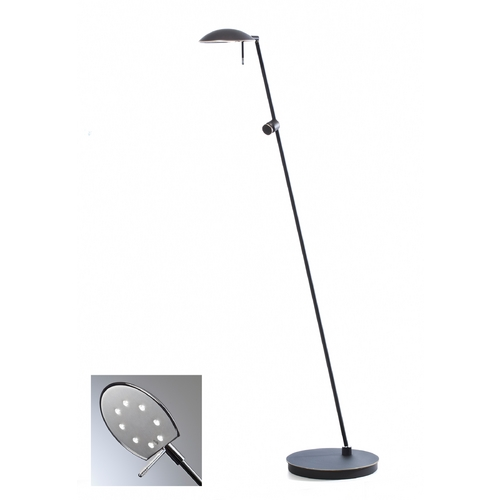 Holtkoetter Lighting Holtkoetter Modern LED Floor Lamp in Hand-Brushed Old Bronze Finish 6470LED HBOB