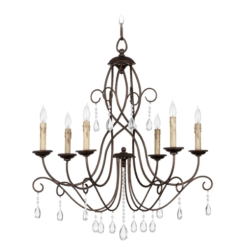 Quorum Lighting Quorum Lighting Cilia Oiled Bronze Chandelier 6116-6-86