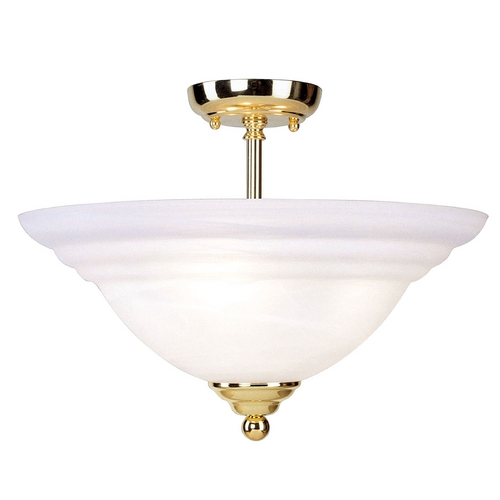 Livex Lighting Livex Lighting North Port Polished Brass Semi-Flushmount Light 4258-02