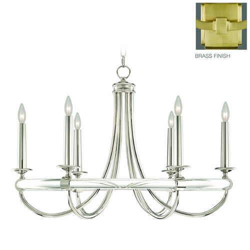 Fine Art Lamps Fine Art Lamps Grosvenor Square Antique Hand-Rubbed Solid Brass Chandelier 846140-2ST