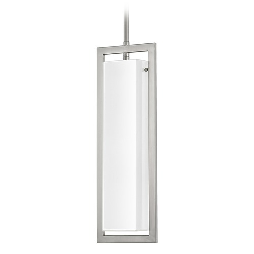 Capital Lighting Capital Lighting Tahoe Brushed Nickel Mini-Pendant Light with Rectangle Shade 4752BN-154
