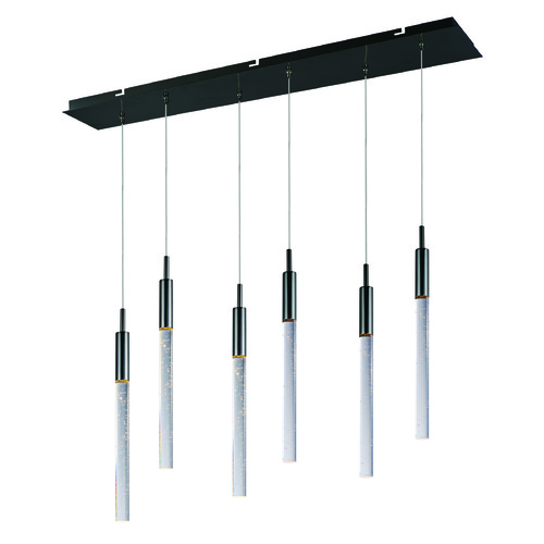 ET2 Lighting Scepter Black Chrome LED Multi-Light Pendant with Cylindrical Shade E32776-91BC