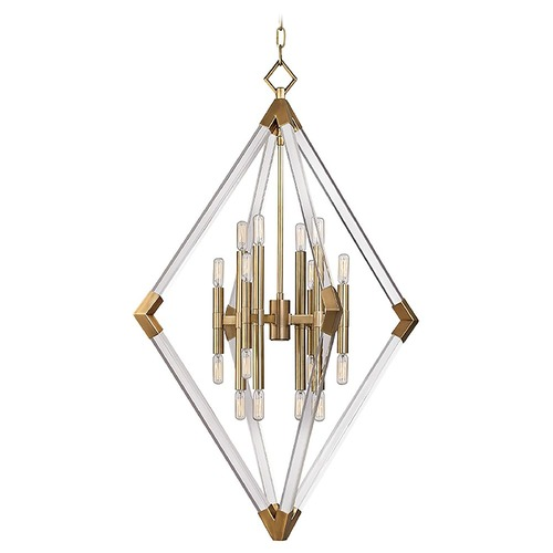 Hudson Valley Lighting Hudson Valley Lighting Lyons Aged Brass Pendant Light 4630-AGB