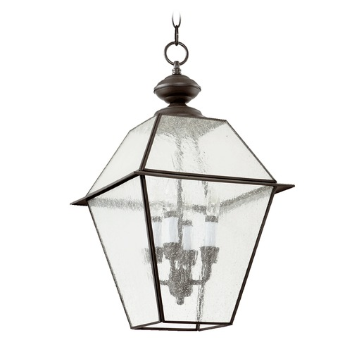 Quorum Lighting Quorum Lighting Duvall Bronze Outdoor Hanging Light 728-4-136