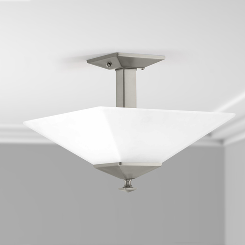 Progress Lighting Progress Lighting Clifton Heights Brushed Nickel Semi-Flushmount Light P350107-009