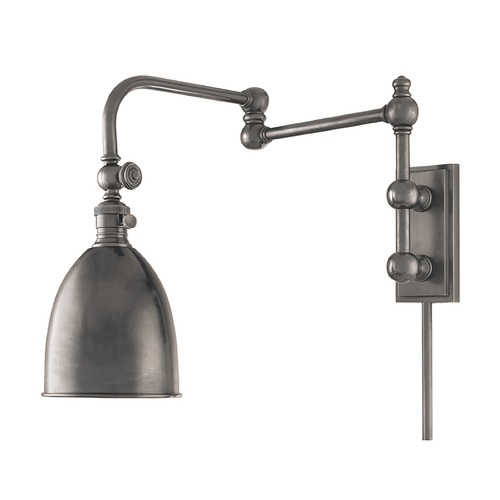 Hudson Valley Lighting Swing Arm Lamp in Antique Nickel Finish 771-AN