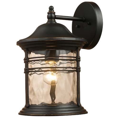 Elk Lighting Outdoor Wall Light with Clear Glass in Matte Black Finish 08161-MBG