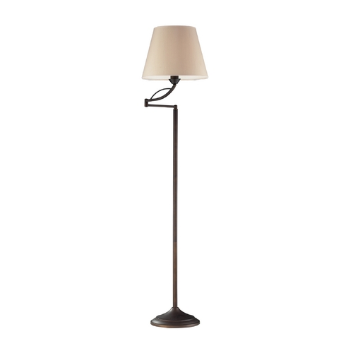 Dimond Lighting Floor Lamp with Beige / Cream Shade in Aged Bronze Finish 17027/1
