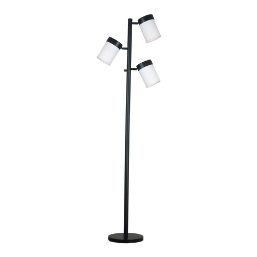 Kenroy Home Lighting Modern Floor Lamp with White Glass in Oil Rubbed Bronze Finish 20970ORB