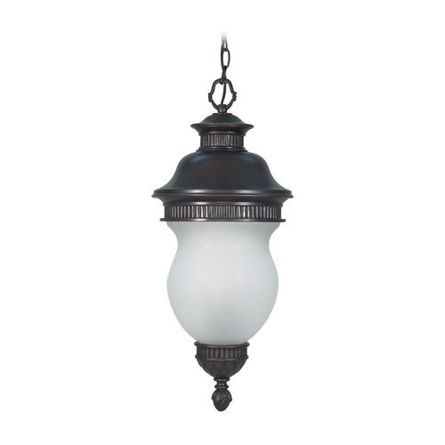 Nuvo Lighting Outdoor Hanging Light with White Glass in Chestnut Bronze Finish 60/881