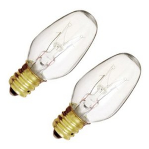 Satco Lighting 7-watt C7 Incandescent Light Bulb - 2 Pack S3791