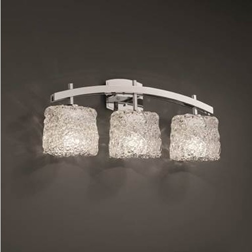 Justice Design Group Justice Veneto Luce Polished Chrome Bathroom Light GLA-8593-30-LACE-CROM