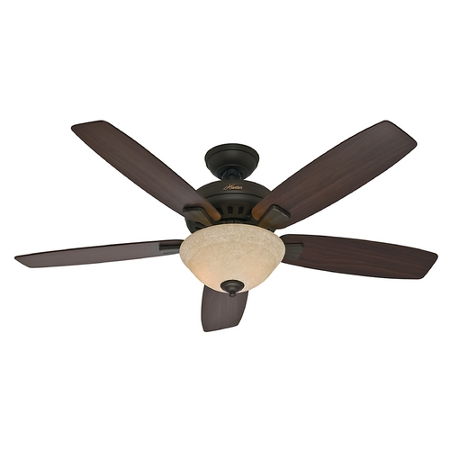 Hunter Fan Company Hunter Fan Company Banyan New Bronze Ceiling Fan with Light 53176