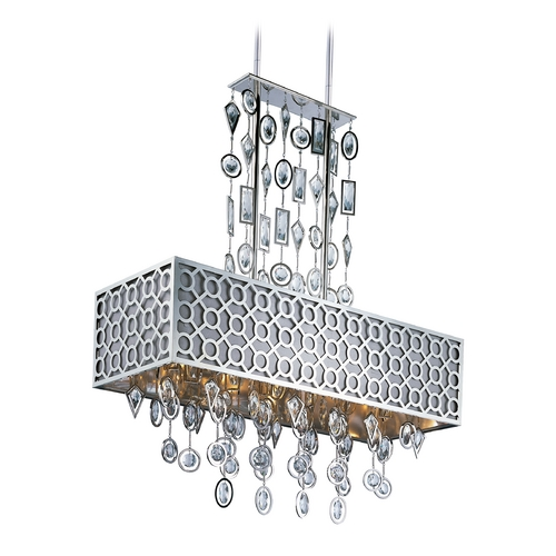 Maxim Lighting Maxim Lighting Symmetry Polished Nickel Pendant Light with Rectangle Shade 22387STPN