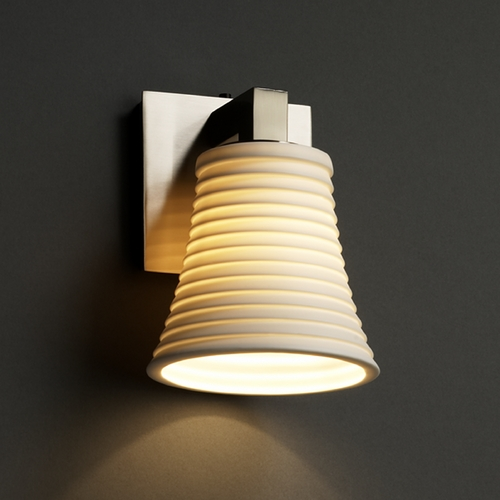 Justice Design Group Justice Design Group Limoges Collection Sconce POR-8921-20-SAWT-NCKL