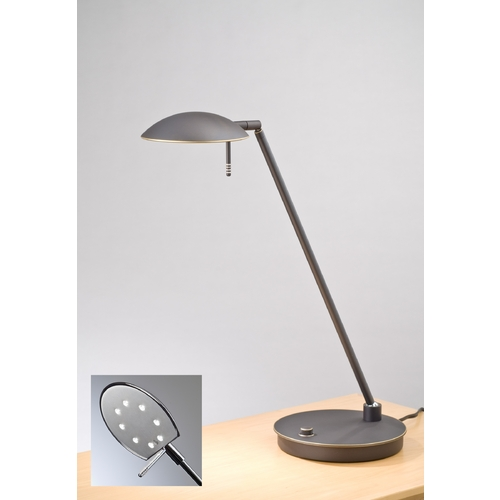 Holtkoetter Lighting Holtkoetter Modern Table Lamp in Hand-Brushed Old Bronze Finish 6477 HBOB