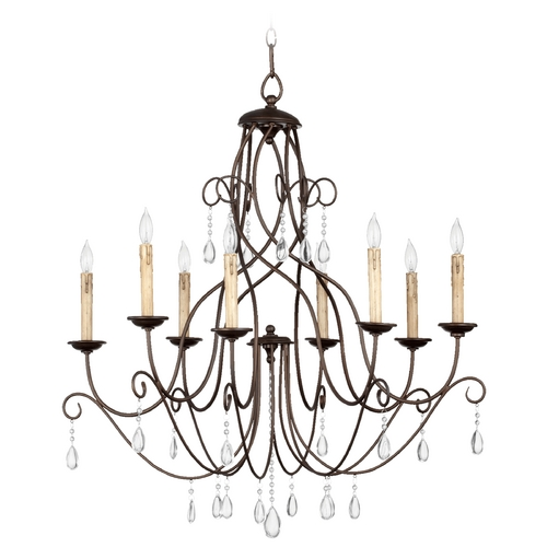 Quorum Lighting Quorum Lighting Cilia Oiled Bronze Chandelier 6116-8-86