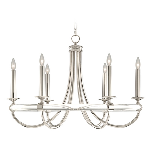 Fine Art Lamps Fine Art Lamps Grosvenor Square Nickel Plated Chandelier 846140ST